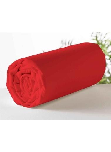 Maki Kırmızı Battal Boy 200x200 Lastikli Çarşaf Takımı Kırmızı